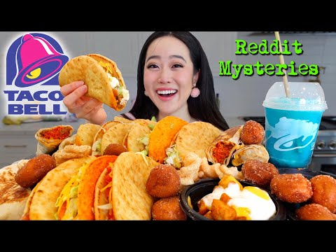 CHALUPAS From TACO BELL MUKBANG! (Tacos, Burritos, Crunchwrap Supremes Etc)