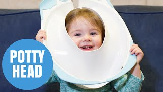 2 year-old girl rescued after potty got stuck on her head