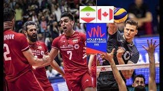 Iran v Canada - FIVB Nations League VNL 2019 - ایران - کانادا   لیگ ملت های ۲۰۱۹
