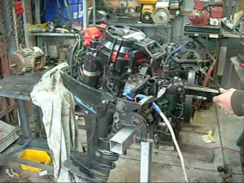 Mercury Outboard 75Hp Electric Junkyard Find  Troubleshooting  YouTube