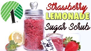 DOLLAR TREE CRAFTS: DIY STRAWBERRY LEMONADE SUGAR SCRUB | LUSH Scrub at the Dollar Store!