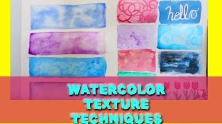 Watercolor TEXTURE Techniques (Watercolor Tips and Tricks) - @dramaticparrot