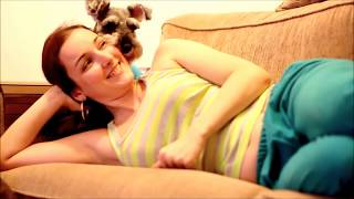 Schnauzer Love - Sweet Interaction With Owner Before Going To Sleep