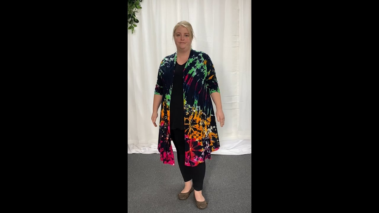 Black Colour Burst Tie Dye Jersey Jacket (CK5346D)