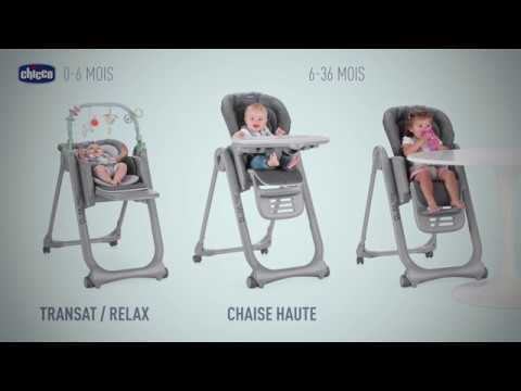 Chaise Haute Polly Magic Relax Par Chicco Youtube