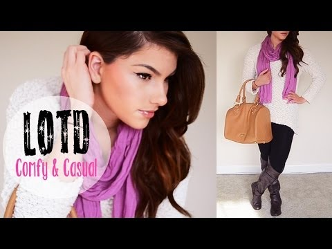 lotd:-comfy-casual-♥-makeup,-hair-&-outfit-|-kayleigh-noelle