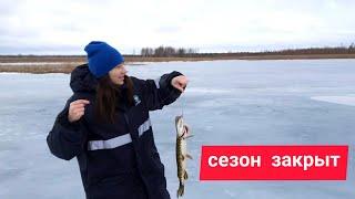 Ловля ЩУКИ на ЖЕРЛИЦЫ Закрытие зимнего сезона рыбалки 20 21 Рыбалка в Беларуси Последний лед
