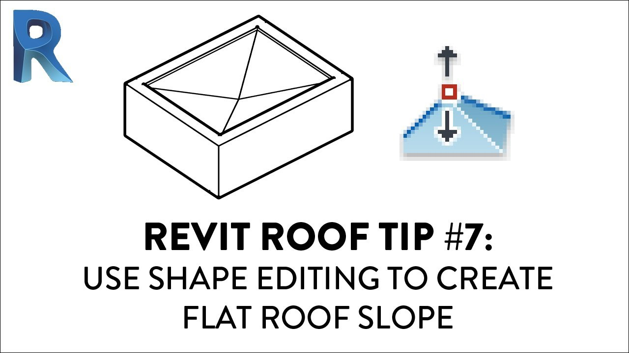 Revit Roof Tip 7 Use Shape Editing To Create Flat Roof Slope Youtube