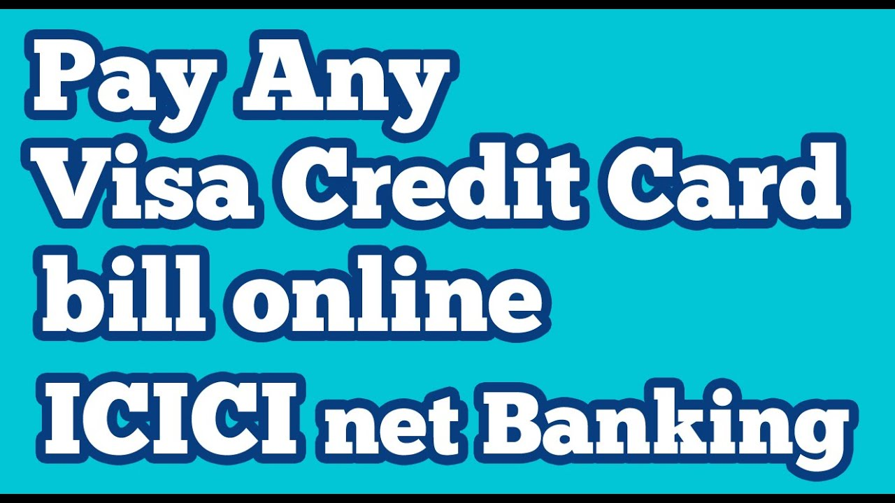 pay icici credit card bill online through sbi net banking