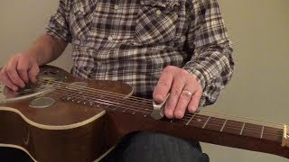 how to flat pick the dobro - ghost picker