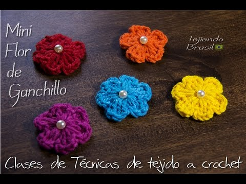 Mini Flores de Crochê - YouTube