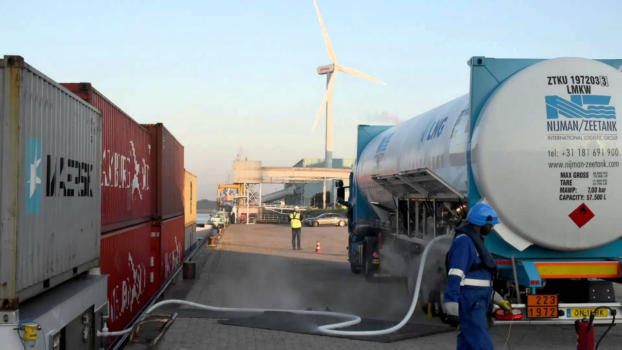 Truck To Ship Lng Bunkering In The Port Of Rotterdam