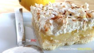 Mascarpone Whipped Cream Lemon Bars