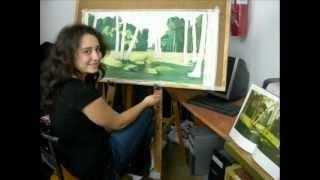 Уроки живописи Светланы в матнасe