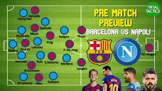 As fc barcelona (barca) and ssc napoli are set to meet again after a first-leg tie that occurred before the first wave of pandemic hit, we saw ...