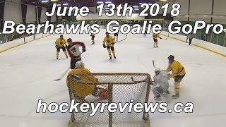 June 13th 2018 Bearhawks Hockey Goalie GoPro, 1st game with Premier 2 Stick