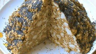 """Торт """"Муравейник"""" из детства, без выпечки из печенья."""
