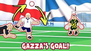 💥Gazza's Goal! Euro 96💥 (Footballers Attempt England Vs Scotland Goals Highlights 1996 2021)