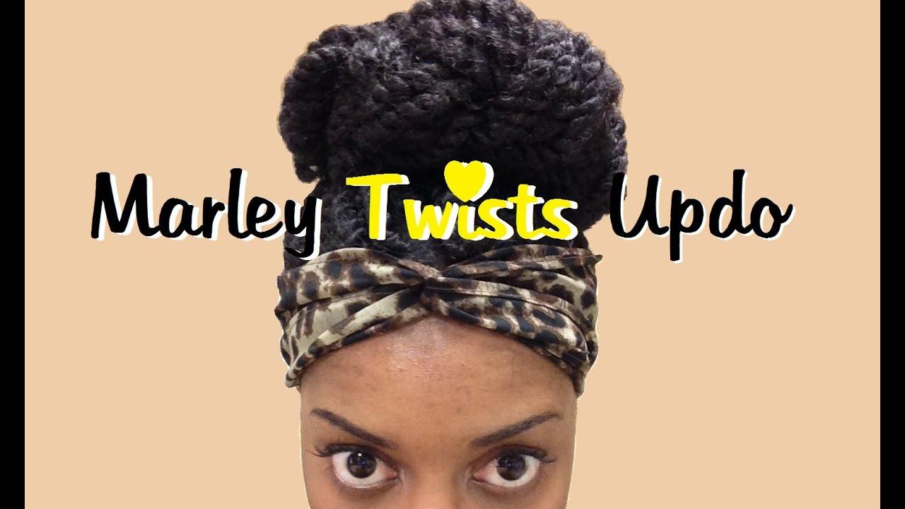{26} Marley Twists Updo - YouTube