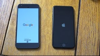 Google Pixel Android O DP vs iPhone 7 iOS 10.3.2 Beta - Speed Test!