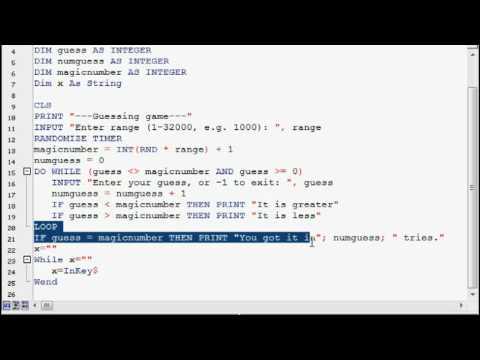FreeBASIC programming tutorial