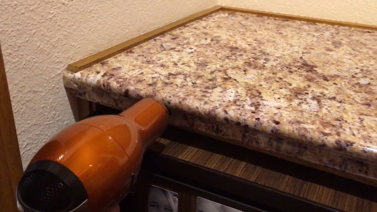 Diy Faux Granite Countertop Youtube Applianceartinc
