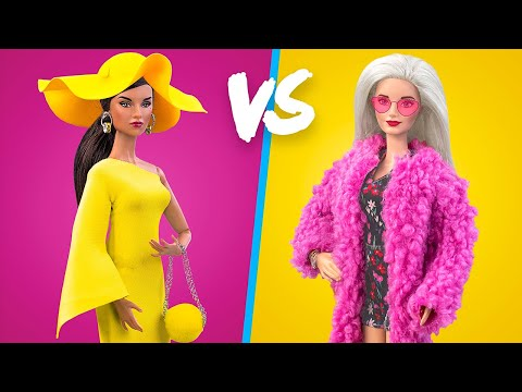 16 лайфхаков для куклы Барби / Всё в розовом и желтом цвете