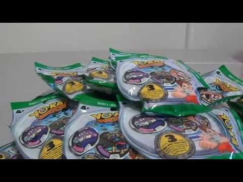 REVIEW 182 YOKAI WATCH - MEDALLAS YOKAI SERIE 3 COMPLETA (UNBOXING)