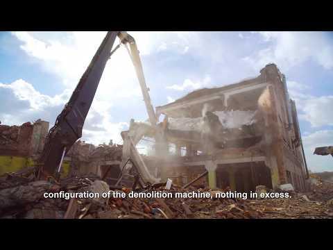 Экскаватор Volvo для сноса зданий (полная версия ENG Subt)