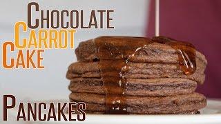 Chocolate Carrot Cake Pancakes