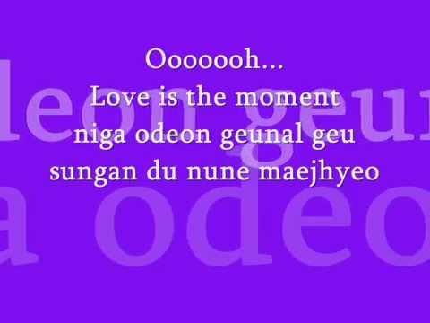 Moment (changmin) Lyrics