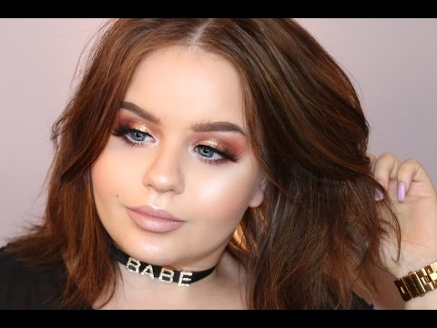 Copper Gold eyes with Light Lips | Makeup Tutorial | @MARIYA.AE