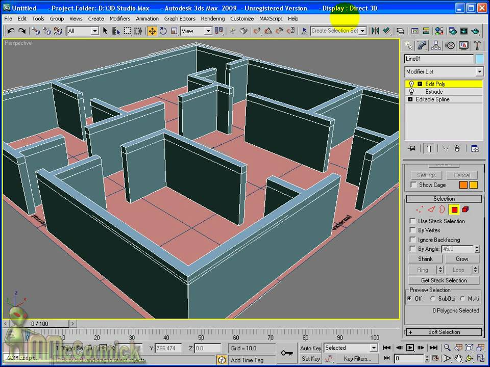 3ds Max Pt 2 Extruding A Floor Plan Youtube