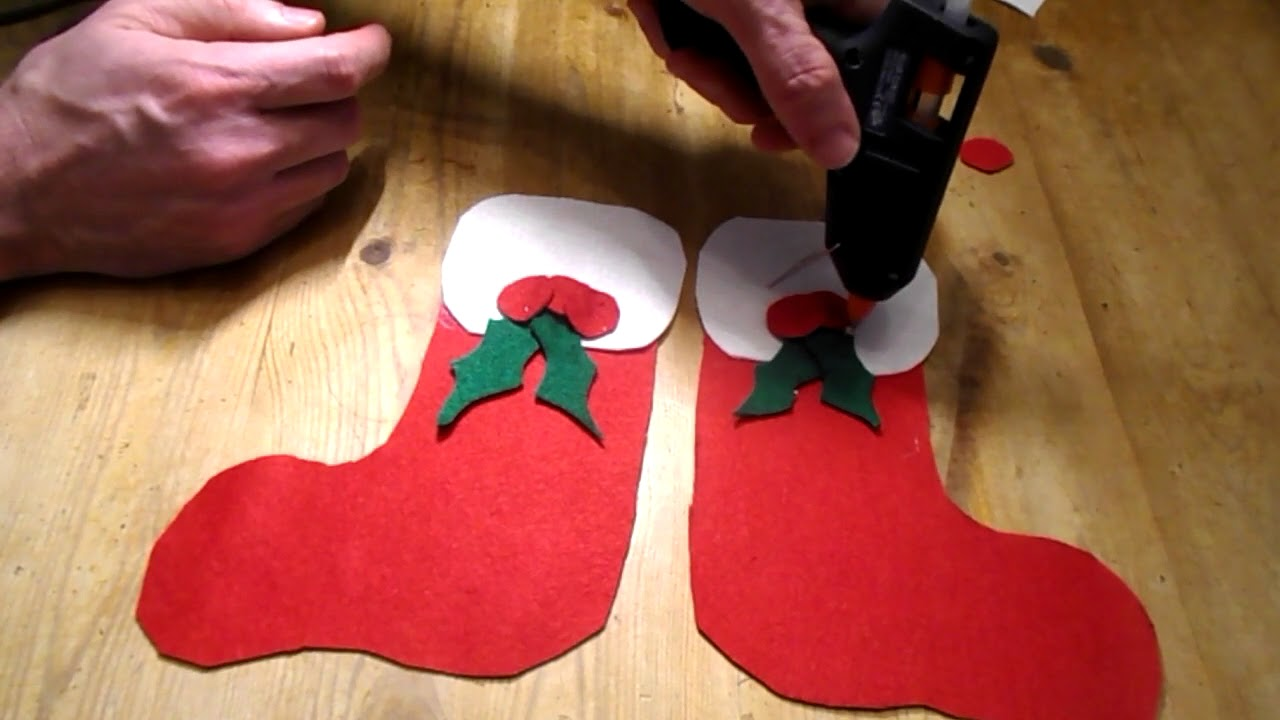 5a6ee4849 How to make a mini Christmas Stocking - YouTube