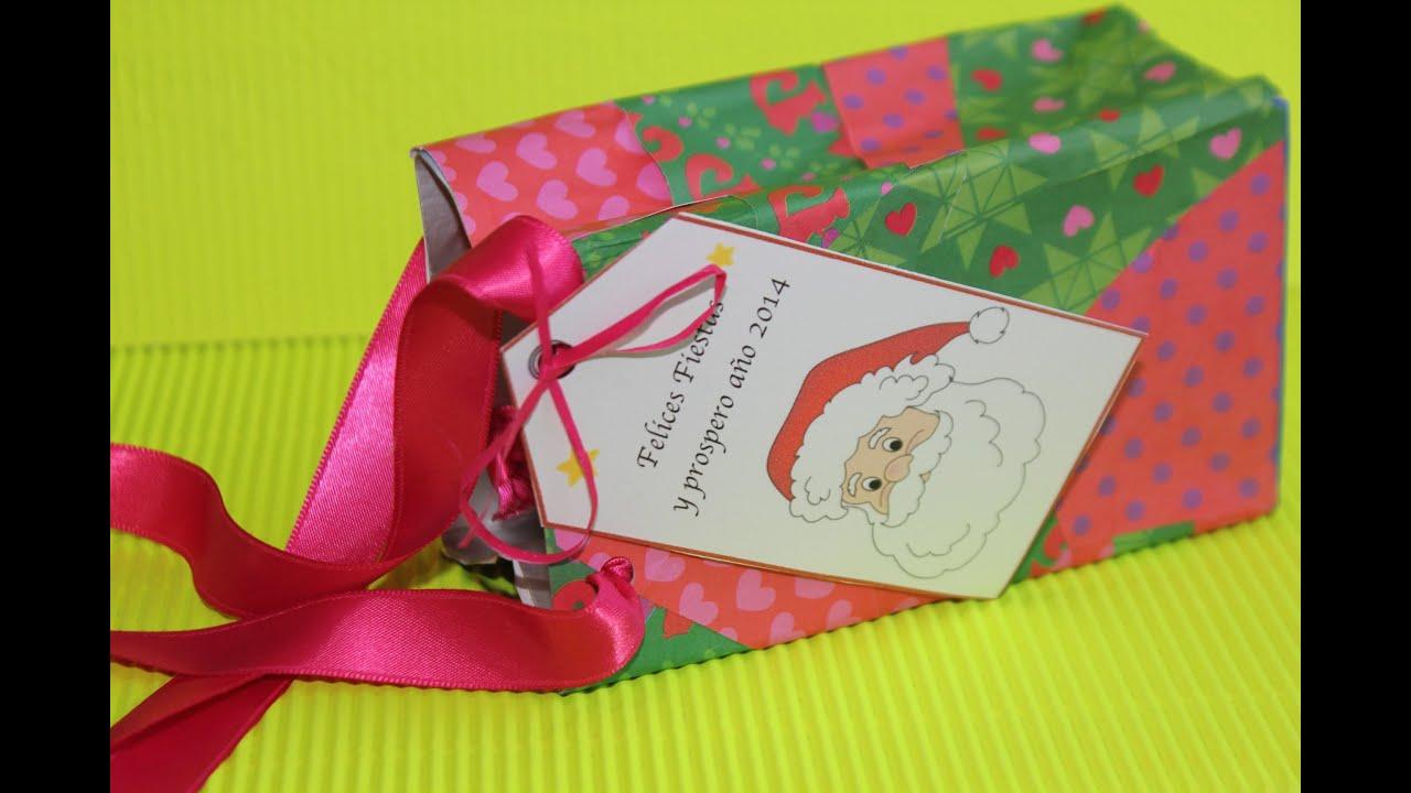 Reciclar un Tetra Brick para hacer bolsa de regalos ...