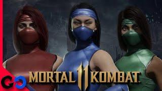 Mortal Kombat 11 Kitana, Jade y Skarlet Klasicas! // Equipo, Poses y Victoria!