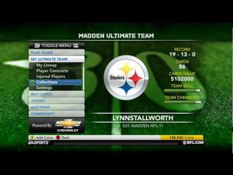 Madden 12 Ultimate Team New Collections (SS Collection) (Commentary) (Giveaway Details)
