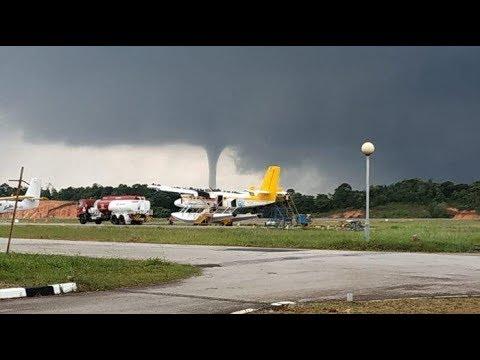 Puting Beliung Terlihat Dekat Bandara Hang Nadim  Ini Penjelasan BMKG
