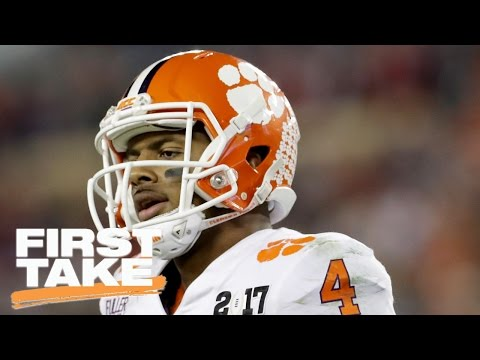 Deshaun Watson Or Mitchell Trubisky: Who Should NFL Teams Draft? | First Take | April 27, 2017