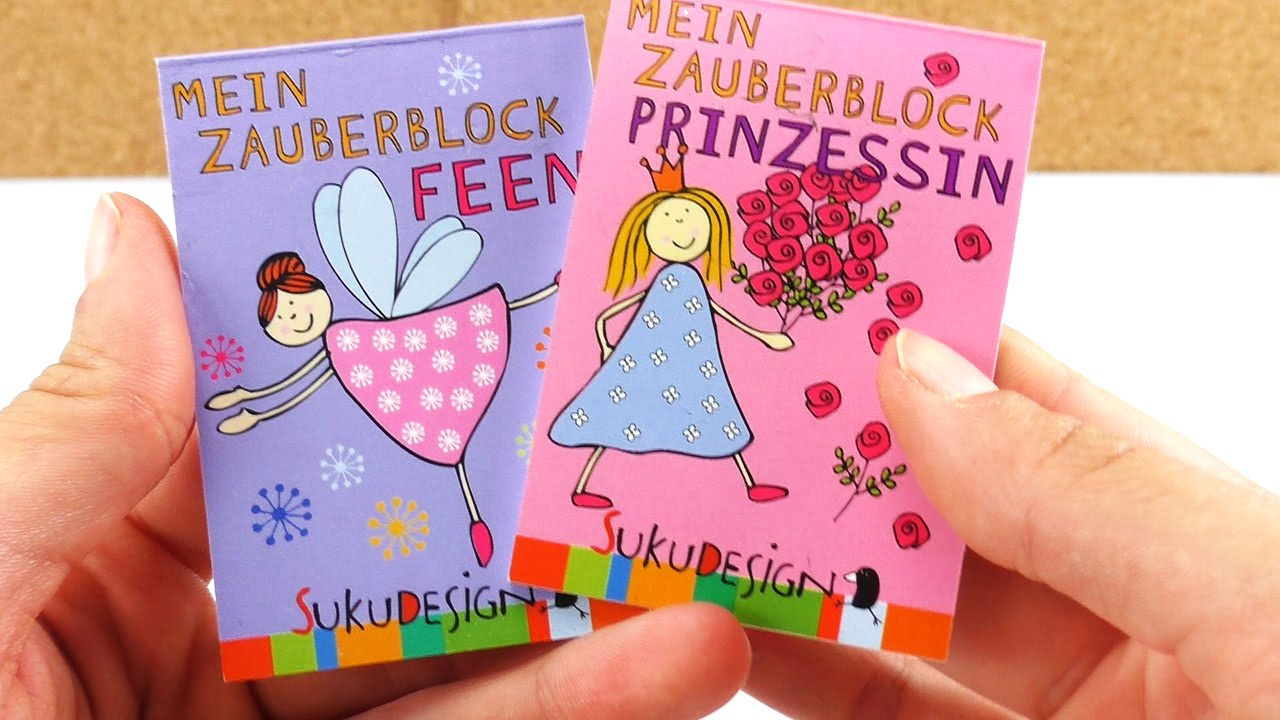 ZAUBERBLOCK Feen und Prinzessinen   Kathi testet süße Mini Malbücher ...