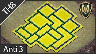 CoC Th8 War/Anti 3 Star Base #3 | Clash of Clans Town Hall 8 Defense | COC OneMenArmy