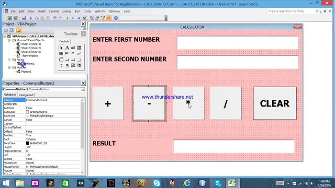 HOW TO MAKE A SIMPLE CALCULATOR IN VBA