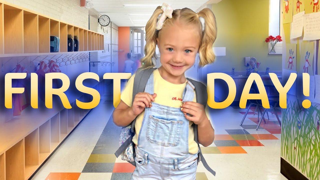 Kinder Garden: Everleigh's First Day Of Kindergarten!!! (SO CUTE)