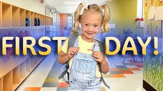 Everleigh's first day of Kindergarten!!! (SO CUTE)
