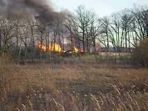 Sawmill Burns down, North Dumfries Ontario