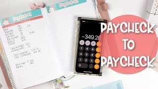 Budget With Me:  Paycheck to Paycheck July 2019 | Erin Condren Petite Monthly Planner