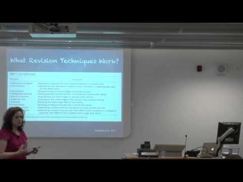 Cambridge: Undergraduate Sample Lecture: Psychology of Education (Dr Michelle Ellefson)