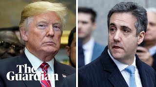 'Mr President, did Michael Cohen cover up your dirty deeds?' a reporter asks Trump