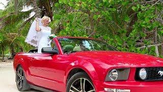 Свадьба в Доминикане - аренда Мустанг кабриолет на свадьбу