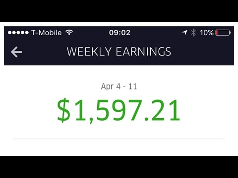 40 Hours of Uber driving for $1597.21